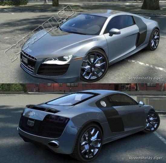 Audi r8 2010 v10 01 56 машина для gta 4 audi r8 2010 v10